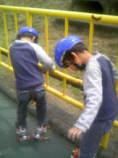 初めてのローラースケート